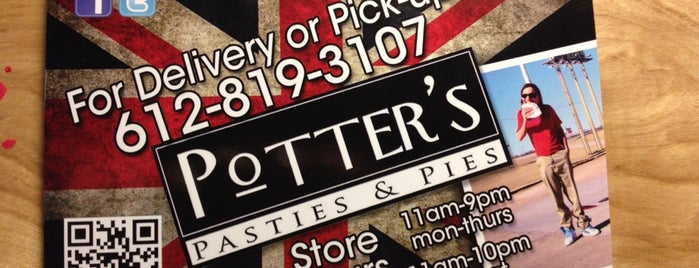 Potter's Pasties & Pies is one of Lugares favoritos de Nathan.