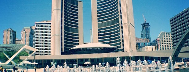 Nathan Phillips Square is one of Toronto.