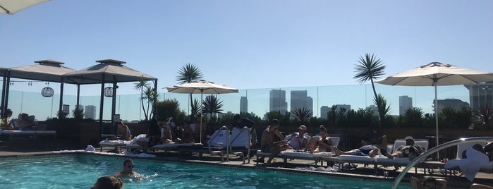 Rooftop pool at the SIXTY is one of LA.