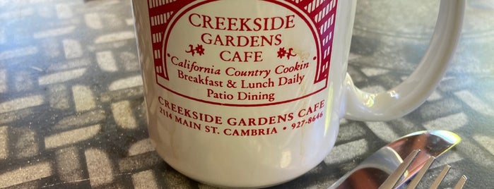Creekside Garden Cafe is one of Central CA Coast.