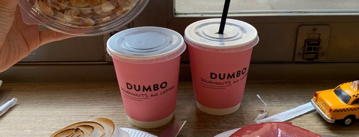 Dumbo Doughnuts and Coffee is one of Doughnuts are the bestest.