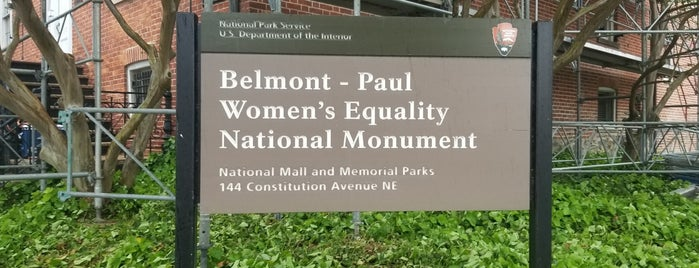 Belmont-Paul Women's Equality National Monument House and Museum is one of D.C..