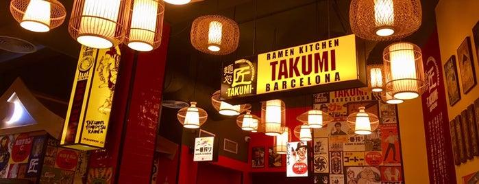 Takumi Tonkotsu Ramen is one of Una mica de ramen a Barcelona.
