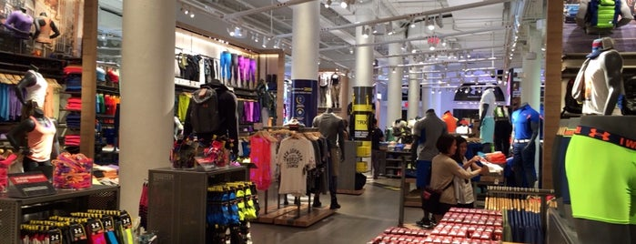 Under Armour is one of NYC Men's Shops.
