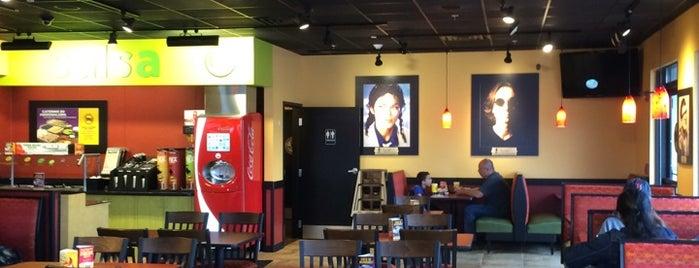 Moe's Southwest Grill is one of Lugares guardados de Amanda.