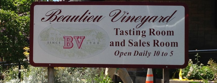 Beaulieu Vineyards is one of Been There, Done That.