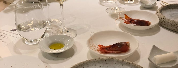 Enoteca is one of Michelin-stars restaurants in Barcelona.