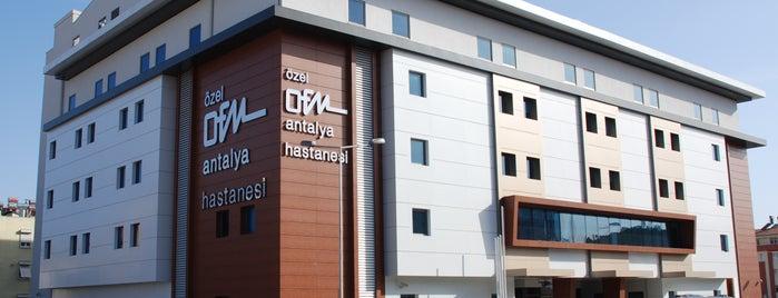 Özel OFM Antalya Hastanesi is one of MUTLU 님이 좋아한 장소.