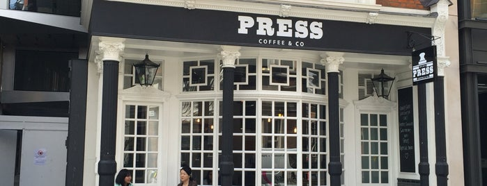 Press Coffee & Co. is one of London Coffee.