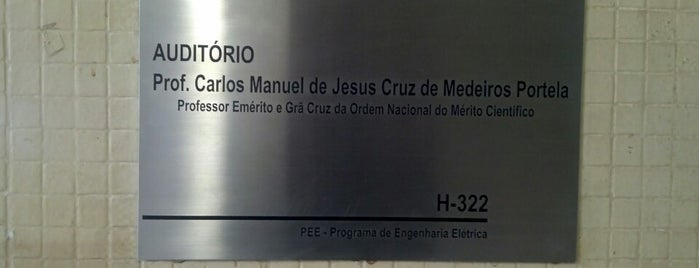 Auditório Prof. Carlos Manuel de Jesus Cruz Medeiros Portelal is one of UFRJ.