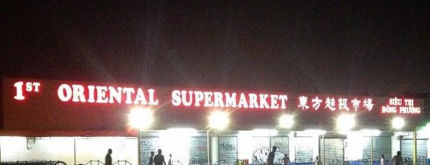 1st Oriental Supermarket is one of Tempat yang Disukai Jason.