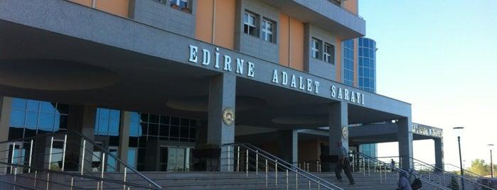 Edirne Adalet Sarayı is one of AVM Ler.