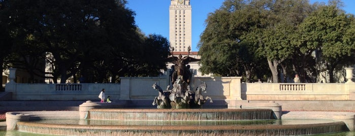 Littlefield Fountain is one of Austin.