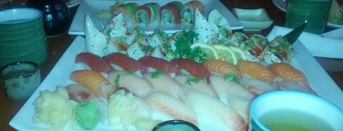 Kiku Sushi is one of Tempat yang Disukai Geoff.