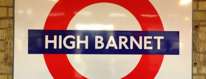 High Barnet London Underground Station is one of Railway stations visited.