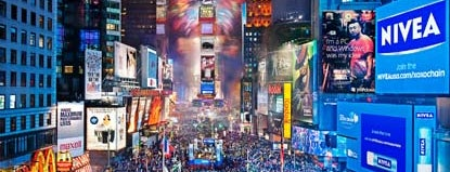 Times Square is one of The Ultimate To Do List.