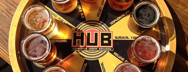 Hopworks Urban Brewery is one of Lugares guardados de Rod.