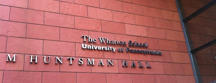 The Wharton School is one of Philadelphia, Pennsylvania.