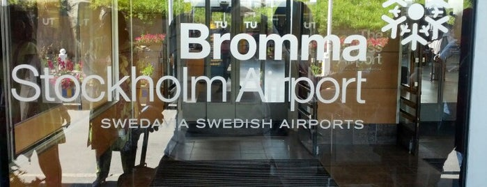 Stockholm-Bromma Airport (BMA) is one of Airports Europe.