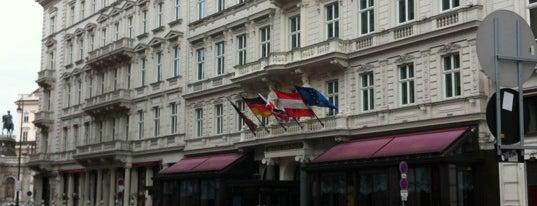 Hotel Sacher is one of Vienna restaurants.