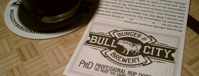 Bull City Burger and Brewery is one of NC Craft Breweries.
