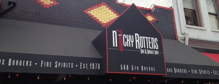 Nicky Rotten's Bar & Burger Joint is one of Eat like Kevin & Darrell.
