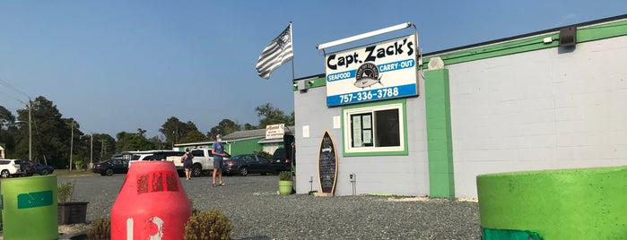 Captain Zack's Seafood is one of Chincoteague.