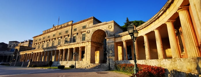 The Palace of St. Michael and St. George is one of Corfu, Greece.