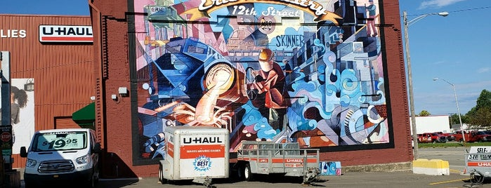 Erie Industry 12th Street mural is one of Murals of Erie.
