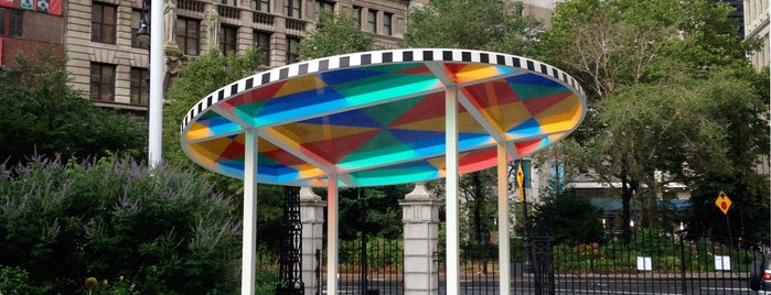 City Hall Park is one of Public Art in NYC Parks.
