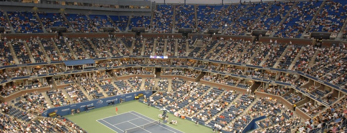Arthur Ashe Stadium is one of Virtual Tour of Flushing Meadows Corona Park.