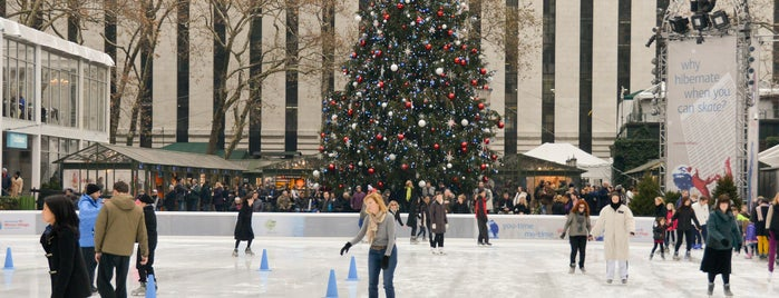 Bryant Park is one of Ice Skating in NYC Parks.