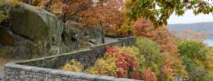 Fort Tryon Park is one of Fall Foliage in NYC Parks.