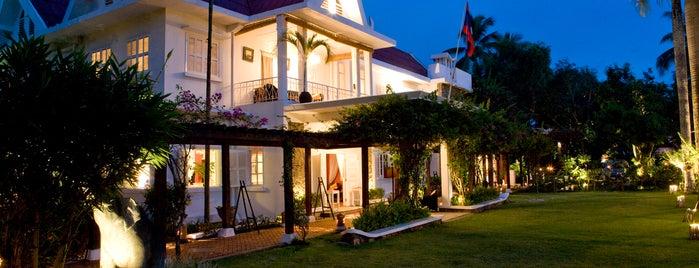 Maison Souvannaphoum Hotel Luang Prabang is one of Tempat yang Disukai Gordon.