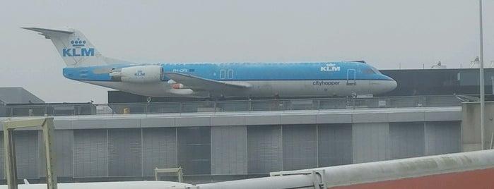 Fokker 100 is one of Schiphol.