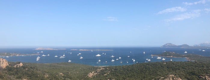 """Panoramic View Over """"Cala di Volpe"""" Bay is one of Italy."""