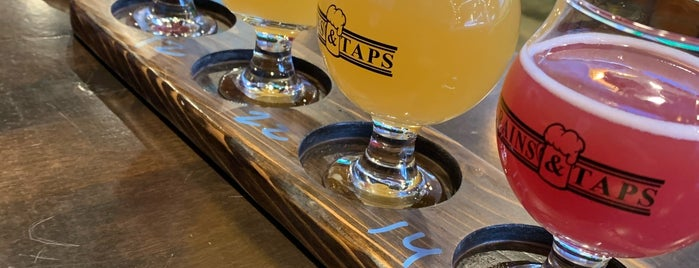 Grains & Taps is one of Locais curtidos por Geoffrey.