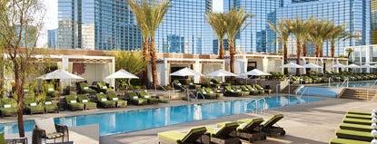 Mandarin Oriental LV Pool is one of 101 places to see in Las Vegas before your die.