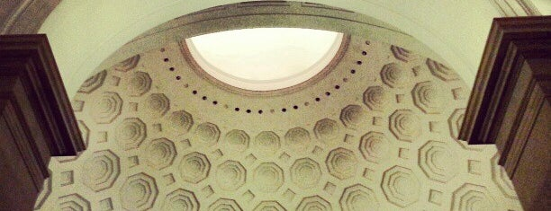 "National Archives Rotunda is one of ""Hail, Columbia, happy land...""."