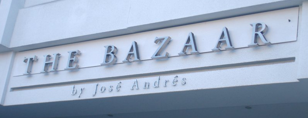 The Bazaar by José Andrés is one of food to try.