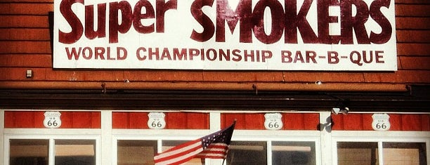 Super Smokers Barbecue is one of Food Worth Stopping For.