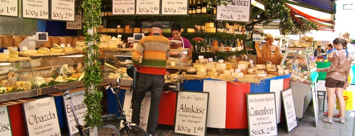 Viktualienmarkt is one of Shop till you drop in Munich.
