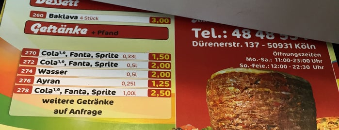 Dürener Döner is one of Türkisch Fast Food.
