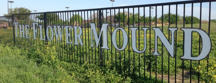 The Flower Mound is one of Flower Mound.