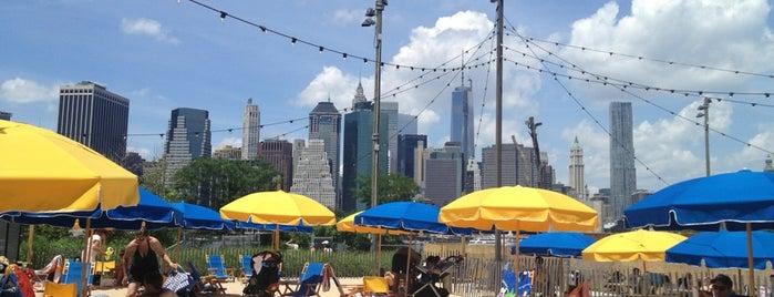Brooklyn Bridge Park Pop Up Pool is one of Brooklyn Heights Neighborhood Guide.