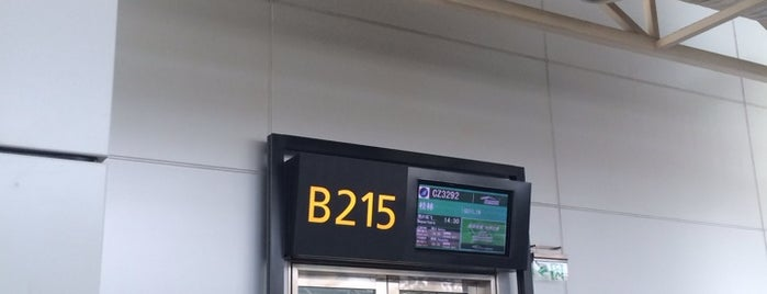 Gate B215 is one of Lieux qui ont plu à Shank.