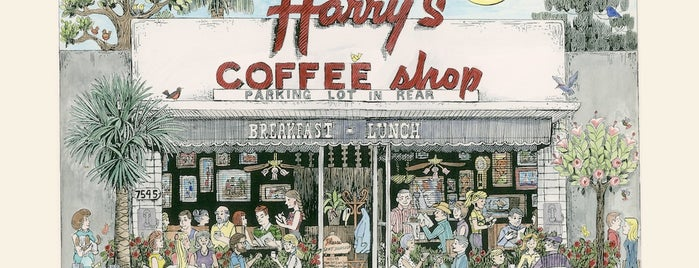 Harry's Coffee Shop is one of San Diego.