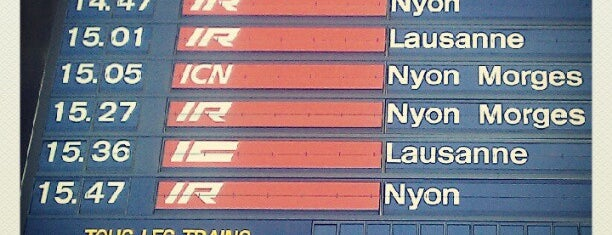 Gare de Genève Aéroport is one of Geneva (GVA) airport venues.