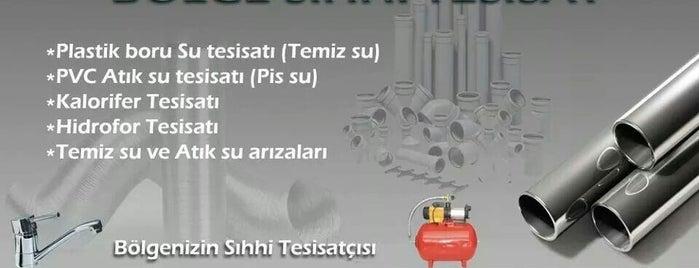 bölge sıhhi tesisat is one of Lieux qui ont plu à Ahmet.