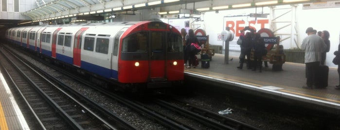 Hammersmith London Underground Station (District and Piccadilly lines) is one of Spring Famous London Story.